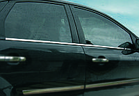 Нижняя окантовка стекол Ford Focus 2 (2005+) 4 шт.