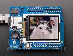 Датчики определения движения, дистанции 18-bit Color 1.8'' TFT Shield with microSD and Joystick ADAFRUIT