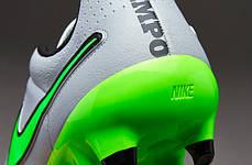 Бутсы Nike Tiempo Genio Leather FG 631282-030 Серые  найк темпо (Оригинал), фото 2