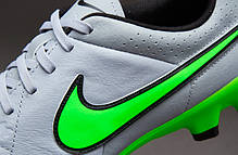 Бутсы Nike Tiempo Genio Leather FG 631282-030 Серые  найк темпо (Оригинал), фото 3