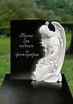 Ангел на могилу - скорбь, воплощенная в граните