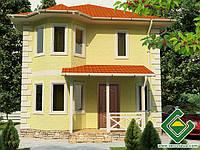 Строительство дома из сип панелей 121,87 м.кв., «ЮТА»