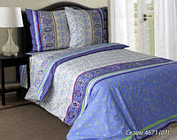 Постельное Белье полуторное Сезам 100% хлопок Ткань Поплин ТМ (Блакит)