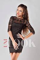 Платье Французкое кружево чёрное