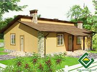 Строительство дома из сип панелей 125,41 м.кв., «БАРСЕЛОНА»