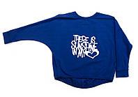 Кофта для девочки подростка 14 кимоно синяя