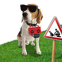 Держатель пакетиков для выгула собак Boom Dog Rocketdesign Красный