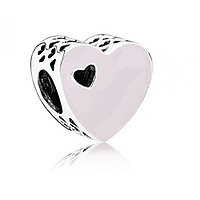 Бусина Pandora Сердце с розовой эмалью