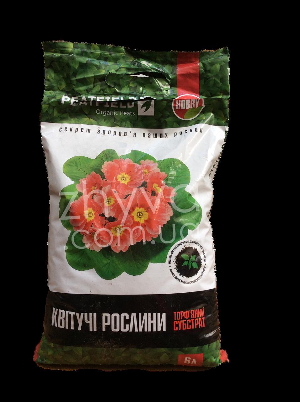 Субстрат для квітучих рослин Peatfield 6 л / Торфяной субстрат для цветущих растений