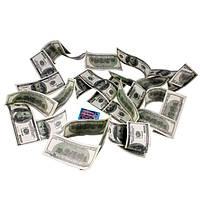 Шикарная денежная гирлянда из купюр по 100 Долларов.
