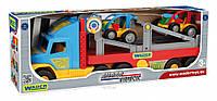 Игрушечный эвакуатор Super Truck с авто-багги Wader 36630