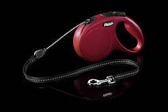 Рулетка Flexi Vario тросовый поводок длиной 5 м для собак весом до 20 кг красный