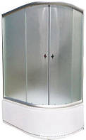 Душевая кабинка 1200х850 правая/левая с глубоким  поддоном стекло матовое