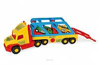 Игрушечный эвакуатор Super Truck с авто-купе Wader 36640