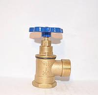 Вентиль латунный - Клапан запорный муфтовый DN20 PN16 вугловий