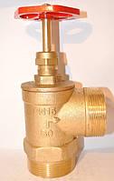 Пожарный Вентиль - Клапан запорный муфтовый DN50нн PN10 вугловий ( з подовж штоком під датчик)