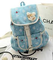 Рюкзак школьный для девочки с мишками.