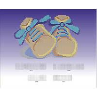 Схема для вышивки бисером 043-4. МЕТРИКА ДЛЯ МАЛЬЧИКА (ПИНЕТОЧКИ)