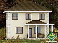 Строительство дома из сип панелей 127,35 м.кв., «БОГОРИЯ»
