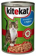 Консервы Kitekat домашний обед с рыбой для взрослых кошек, (400 гр)