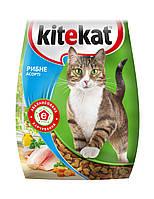 Kitekat сухой корм взрослых кошек - рыбное ассорти, 13 кг