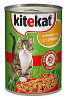 Консервы Kitekat домашний обед с курицей для взрослых кошек, (400 гр)