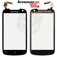 Сенсорный экран (touchscreen) для Lenovo A520, черный, оригинал