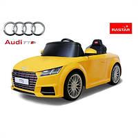 AUDI TTS YELLOW детский электромобиль с пультом управления, фото 1