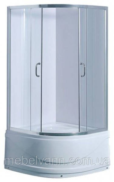 Душевая кабина 100х100 с глубоким  поддоном стекло матовое