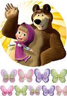 Маша и медведь 7 Вафельная картинка