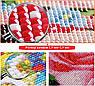 Набор алмазной вышивки Бабочка на ветке с цветами KLN 20 х 40 см (арт. FS040) , фото 3