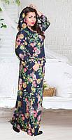 Стильное женское платье с капюшоном