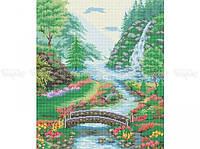Схема вышивки бисером «Над речкой» (A2)