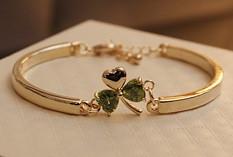 Браслет LOUIS VUITTN ювелирная бижутерия золото 14К декор кристаллы Swarovski