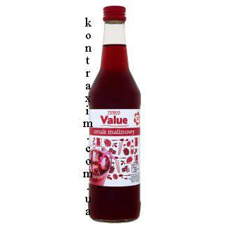 Tesco Value Сироп для напитков малиновый аромат 500 мл, фото 2