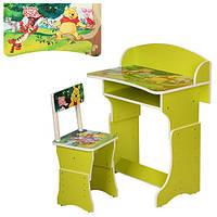 Детская парта 301-6 Винни-Пух + стул (зелёный цвет)