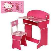 Детская парта 301-16 Hello Kitty + стул (розовый цвет)