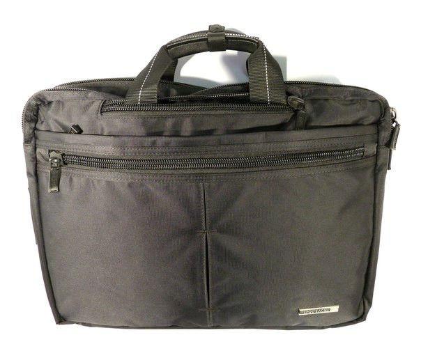 Сумка-портфель-рюкзак для ноутбука компьютера текстильная черная Epol 7020