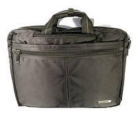 Сумка-портфель-рюкзак для ноутбука компьютера текстильная черная Epol 7020, фото 1