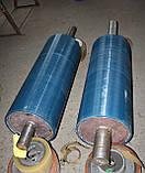 Гуммирование, или Футеровка приводного барабана ленточного конвейера, футеровка роликов и вала полиуретаном., фото 2