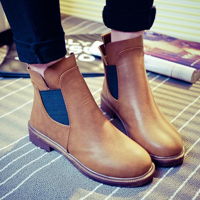 Женская кожаная обувь весна-осень