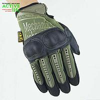 "Перчатки военные, тактические MECHANIX WEAR Mpact - 3   (повнопалие ""L-ХЛ""), тактичні рукавиці (green)"