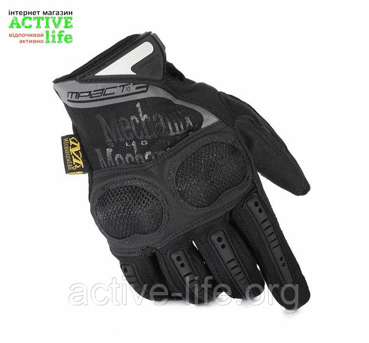 "Перчатки военные, тактические MECHANIX WEAR Mpact - 3   (повнопалие ""L-ХЛ""), тактичні рукавиці (black), фото 1"
