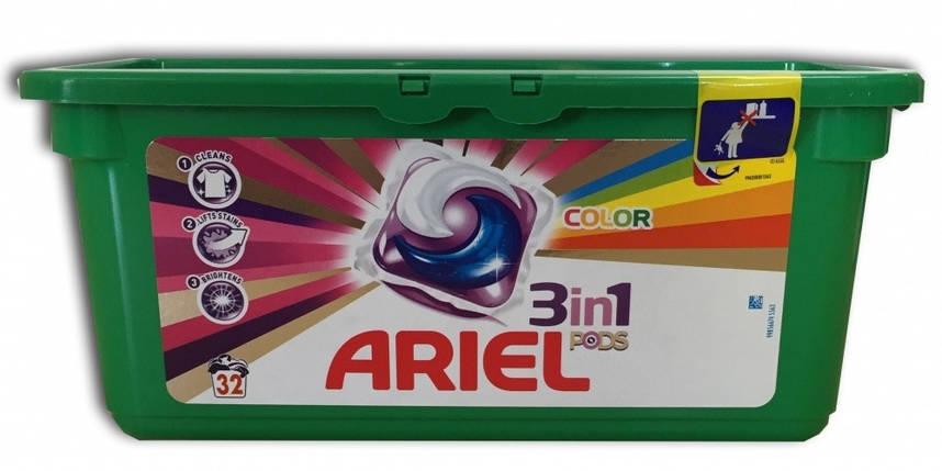 Гелевые капсулы для стирки Ariel color 28 шт. Ариель Бельгия, фото 2