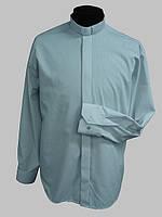 Рубашка для священников  белого цвета с длинным рукавом, фото 1