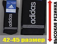"""Носки мужские демисезонные """"Adidas"""" высокая резинка чёрные 41-44р. НМД-244"""