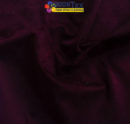 Искусственная замша баклажан, фото 2