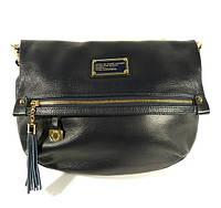 Кожаная сумочка, клатч Marc Jacobs 10669 синяя на плечо