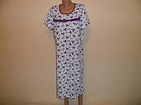 Сорочка женская с оборкой короткий рукав хб в мелкий цветочек, фото 1