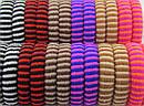 Полосатая резинка для волос из микрофибры 24 шт/уп, фото 2